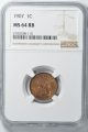 1907 Bronze Indian Cent 1C NGC MS64RB