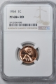 1954 Wheat Reverse Lincoln Cent (Proof) 1C NGC PR68+RD