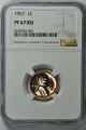 1957 Wheat Reverse Lincoln Cent (Proof) 1C NGC PR67RD